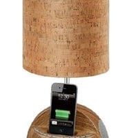 Welovelamp® Iphone Lighting Desk Lamp Docking Bluetooth Music Station Speaker with Fm Radio and Alarm Clock (Wooden)