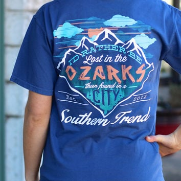 Lost in the Ozarks Tee by SOUTHERN TREND {China Blue}