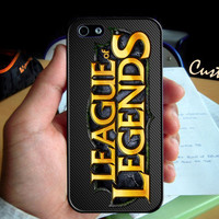 Custom League of Legends Champion  - Photo Hard Case design for iPhone 4/4s Case, iPhone 5 Case, Black or White ( Choose Option )