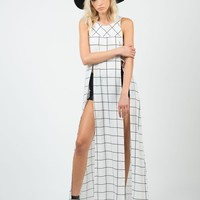 Gridline Shirt Dress