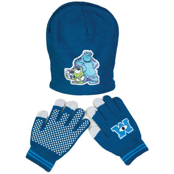 Monsters University - Sully & Mike Juvy Reversible Knit Hat & Glove Set