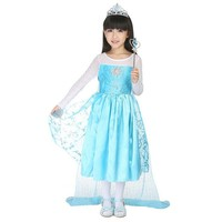 CRAZY POMELO Snow Queen Long Cape Party Dress With Dress-up Acessories