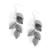 Cascading Leaves Drop Earrings