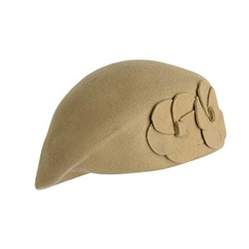 Voberry®Women's Korean French Beret Beanie Warm Pillbox Hat Cap (Khaki)