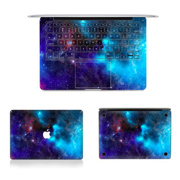 "Laptop Full Vinyl Decal Top Bottom and Keyboard Side Starry Sky Print Sticker Skins For Macbook Air Retina Pro 11""12""13""15"""