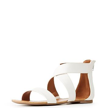 Ankle Wrap Flat Sandals | Charlotte Russe