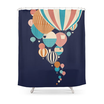 Society6 Balloons Shower Curtains