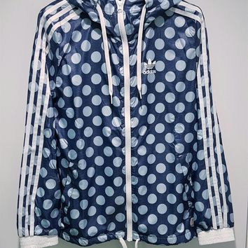 adidas Originals Fashion Hooded Zipper Jacket Windbreaker Coat Sweatshirt-1