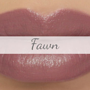 "Vegan Lipstick Sample - ""Fawn"" (gray tinted mauve/taupe lipstick) greige, nude lip tint, balm, lip colour mineral lipstick"