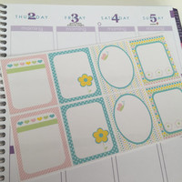 Spring Themed Planner Stickers - Frames