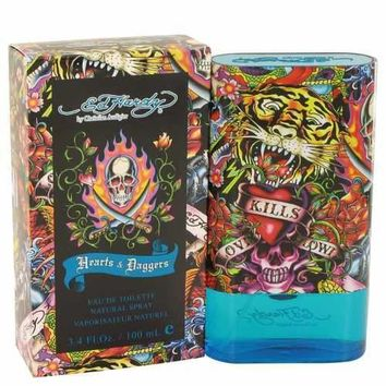 Ed Hardy Hearts & Daggers by Christian Audigier Eau De Toilette Spray 3.4 oz (Men)