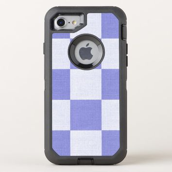 geometric purple blocks OtterBox defender iPhone 8/7 case