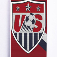 iPhone 5 Case - Rubber (TPU) Cover with Usa Soccer Rubber Case Design