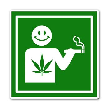Vinyl I Like Smoking Sticker - Original Green