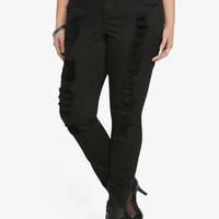 Torrid Premium Skinny Jean - Dark Rinse Embellished with Destruction (Regular)