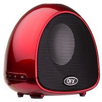 QFX BT-100 Red - Bluetooth Speaker with Microphone