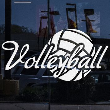 Window Glass and Vinyl Wall Decal Volleyball Ball Sport Stickers Mural Unique Gift (ig3769w)