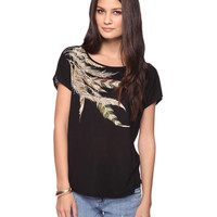 Rhinestone Feather Tee