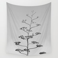 One false Leaf  ~Silver~ Wall Tapestry by RichCaspian
