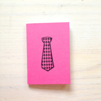 Small Notebook: Tie, Pink, For Him, Men, Favor, Hipster, Wedding, Gift, Unique, Notebook, Journal, Christmas, Stocking Stuffer, VV332