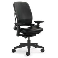 Steelcase Leap Leather Chair, Black