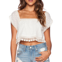 Jen's Pirate Booty Violette Crop Top in Ivory