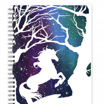Unicorn Notebook - Personalised Notebook - Personalized Journal - Writing Journal - Travel Diary - Blank Notebook - Custom Notebook