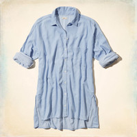 San Onofre Denim Boyfriend Shirt