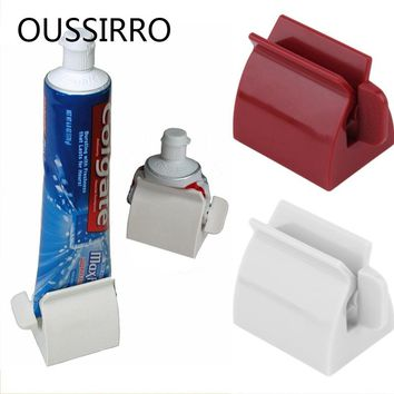 2017 New Arrival Bathroom Set Accessories Rolling Holder Tube Tooth Paste Squeezer Easy Toothpaste Dispenser Toothbrush Holder