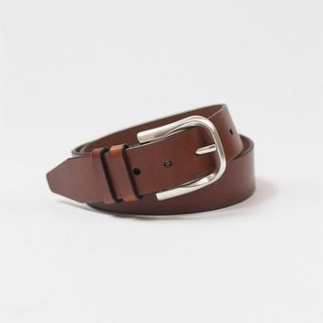 Silver Bullet Tan Leather Belt