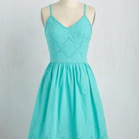 Courteous Curtsy Dress in Aqua | Mod Retro Vintage Dresses | ModCloth.com