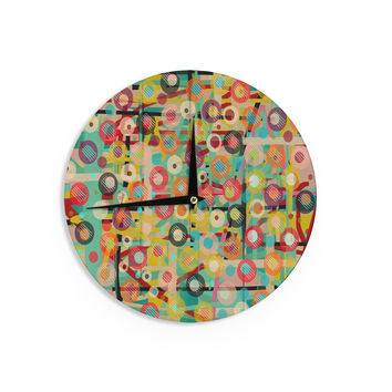 "Bri Buckley ""Gift Wrapped"" Crazy Abstract Wall Clock"