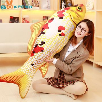 3D Grass Carp Pillow Fish