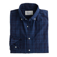 J.Crew Mens Shuttle Notes Indigo Poplin Shirt
