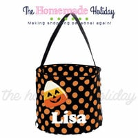 Personalized Candy Corn Trick or Treat Halloween Bags