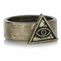 Triangle Eye Ring - Rings - Mens Jewelry - Shoes and Accessories