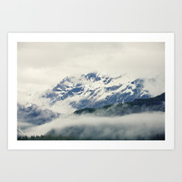Mountains and Fog Art Print by Erin Johnson