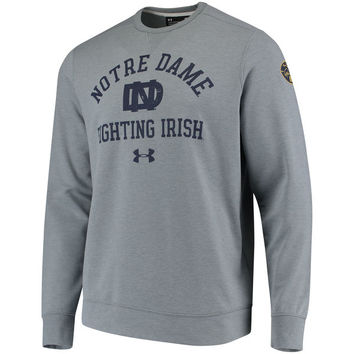 Men's Under Armour Gray Notre Dame Fighting Irish 2017 Special Games Iconic Performance Sweatshirt