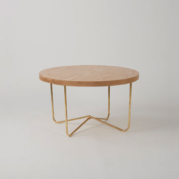 Cross Brass Coffee Table - Douglas and Bec
