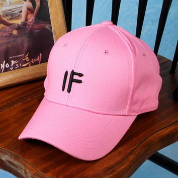 Cute Embroidered IF Baseball Hat Cap