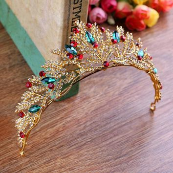 Royal Gold - Rhinestone Tiara