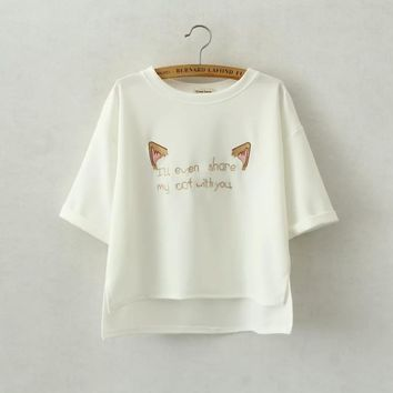 Share My Cat With You Embroidery Shirt