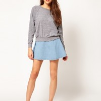 American Apparel Denim Circle Skirt at asos.com