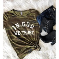 In God We Trust Camo Tee