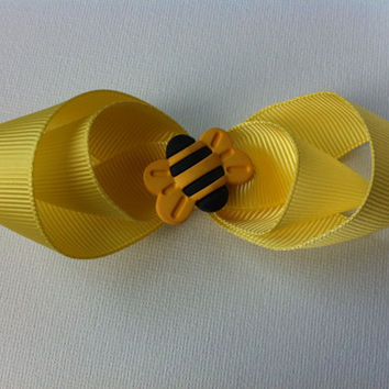 Kids Bumble Bee Hair Bow Clips 64