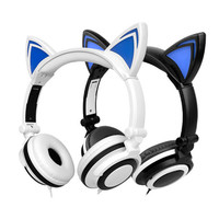 Cat Ear Stereo Headphone With LED Light