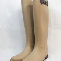 Women's Flat Wellies Rubber Rain & Snow Boots RainBoots Neon Green Fushia black
