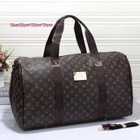 LV Trending Women Men Print Leather Luggage Travel Bags Tote Handbag I