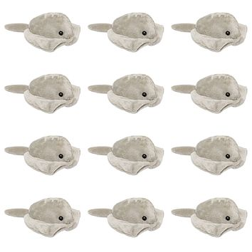 "12 Pack Stingray Mini 4"" Small Stuffed Animals, Bulk Bundle Ocean Animal Toys, Sea Party Favors for Kids"