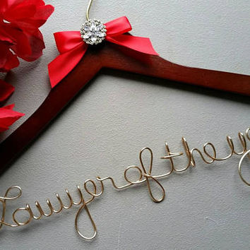 Lawyer Hanger, New Graduate or The Soon to Be female Lawyer Great Gift - Attorney Hanger - Great Christmas Gift